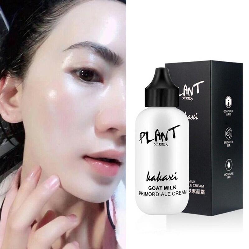 1PCS BB&CC Face Brighten Foundation Natural Waterproof Cream Goat Milk Revitalizing Skin Glow Korean Easy Makeup Base Cosmetic