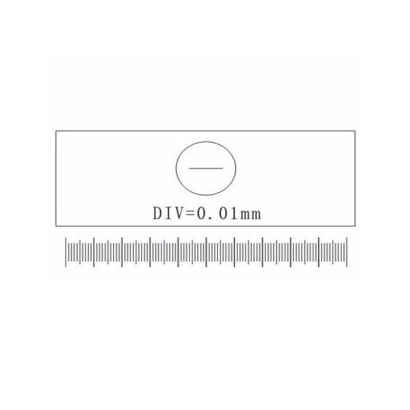 C1-C7 0,01 MM Vetrini per microscopio Calibrazione del reticolo - Strumenti di misura - Fotografia 2