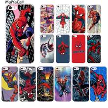 Maiyaca marvel super herói spiderman macio silicone tpu telefone capa para iphone 11 pro xs max 8 7 6 s plus x 5 5S se xr capa(China)