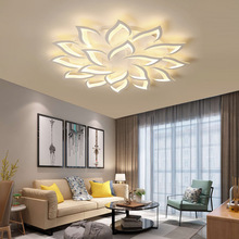 New Led Ceiling Chandelier Modern Luxury Lotus for Living/dining Room Kitchen Bedroom Lamp Art Deco Lighting Fixtures