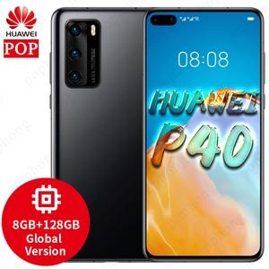 Глобальная версия оригинальный HUAWEI P40 5G мобильного телефона 6,1 дюймов Kirin 990 5G SoC Octa Core Android 10 Bluetooth 5,1 В Wi-Fi SA/НСА