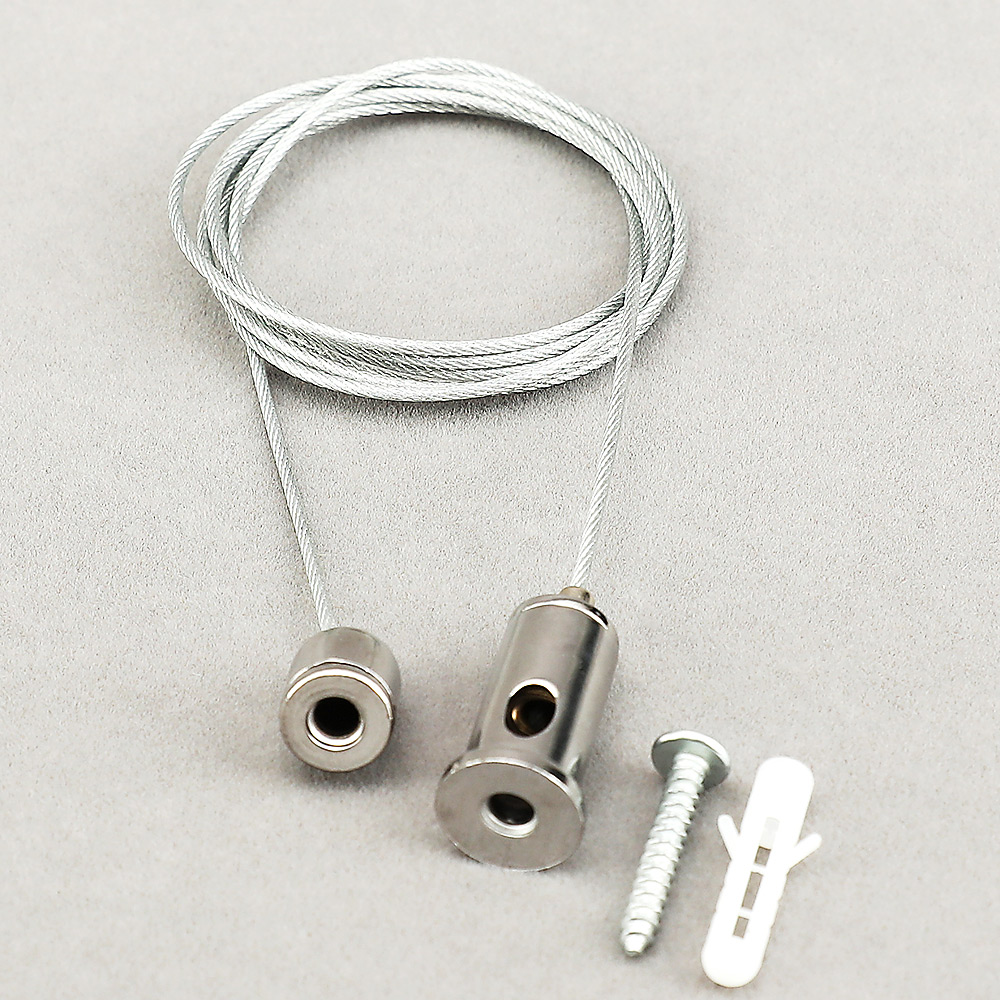 1.2 M Steel Cable Retractable To Suspension Height For Lifting And Hanging Various Panel Lights