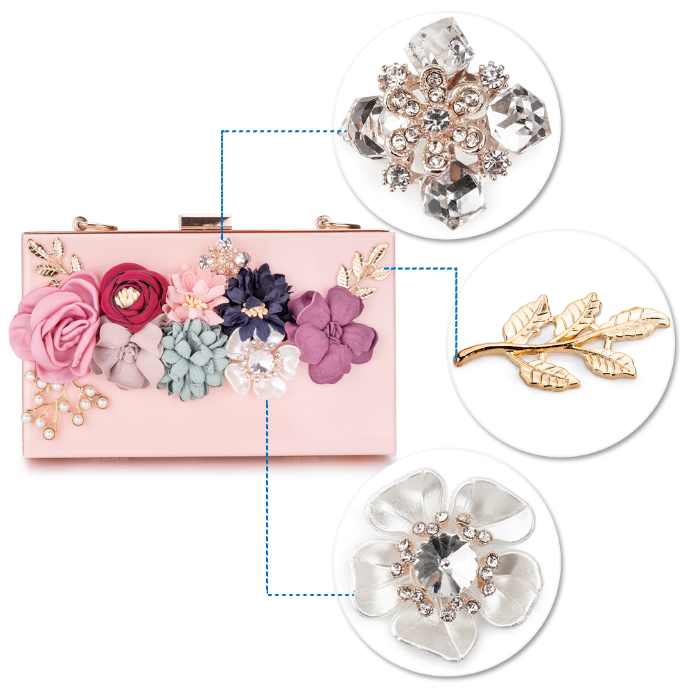 Women Acrylic Flower Clutches Purse Evening Bags Chain Strap H4f0d3cec13114808a85feb3972ee12c7F Bag