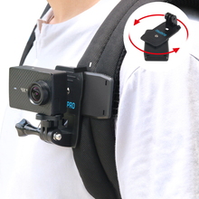 Action Camera Clip For GoPro Hero 7 6 5 4 Mount 360 Degree Rotary Clip Backpack Mount For Session 3+ 3 SJCAM SJ4000 Garmin цена 2017