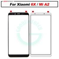 오리지널 xiaomi 6X 유리 렌즈 전면 유리 xiao mi A2 LCD 외부 유리 수리용 새로운 교체