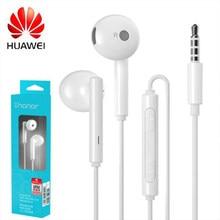 Оригинальные наушники Huawei Honor AM115 длиной 1,1 м с проводным управлением, микрофоном, регулятором громкости, динамиком, простая гарнитура