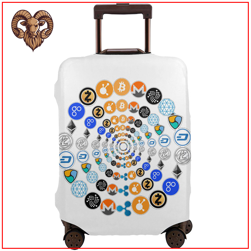 Cryptocurrency Luggage Cover