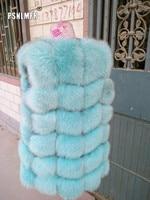 100% Real Fox Fur Vest Natural Whole Fox Fur Vest Gilet Women gilet en fourrure de renard Coat Plus Size S 6XL