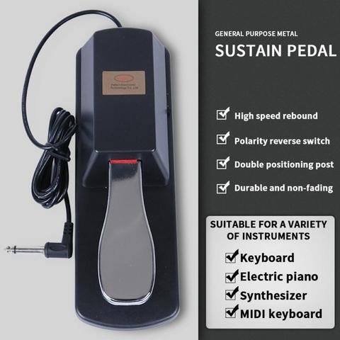 Amortecedor para Casio Teclado de Piano Eletrônico de Teclado de 6.5mm Piano Pedal Yamaha Roland Elétrico Eletrônico 1.5 m