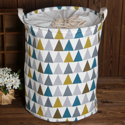 Clothing Storage Baskets Folding Laundry Dirty Clothes Storage Bags Sundries Storage Cotton Fabric Dirty Clothes Basket