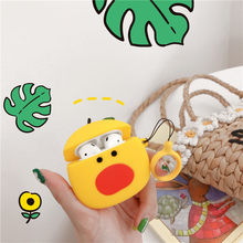 Cute chick Bluetooth Wireless Earphone case for Airpods Case Soft Silicone Headphone Protective Cover for Apple Airpods 1 2 case цена и фото