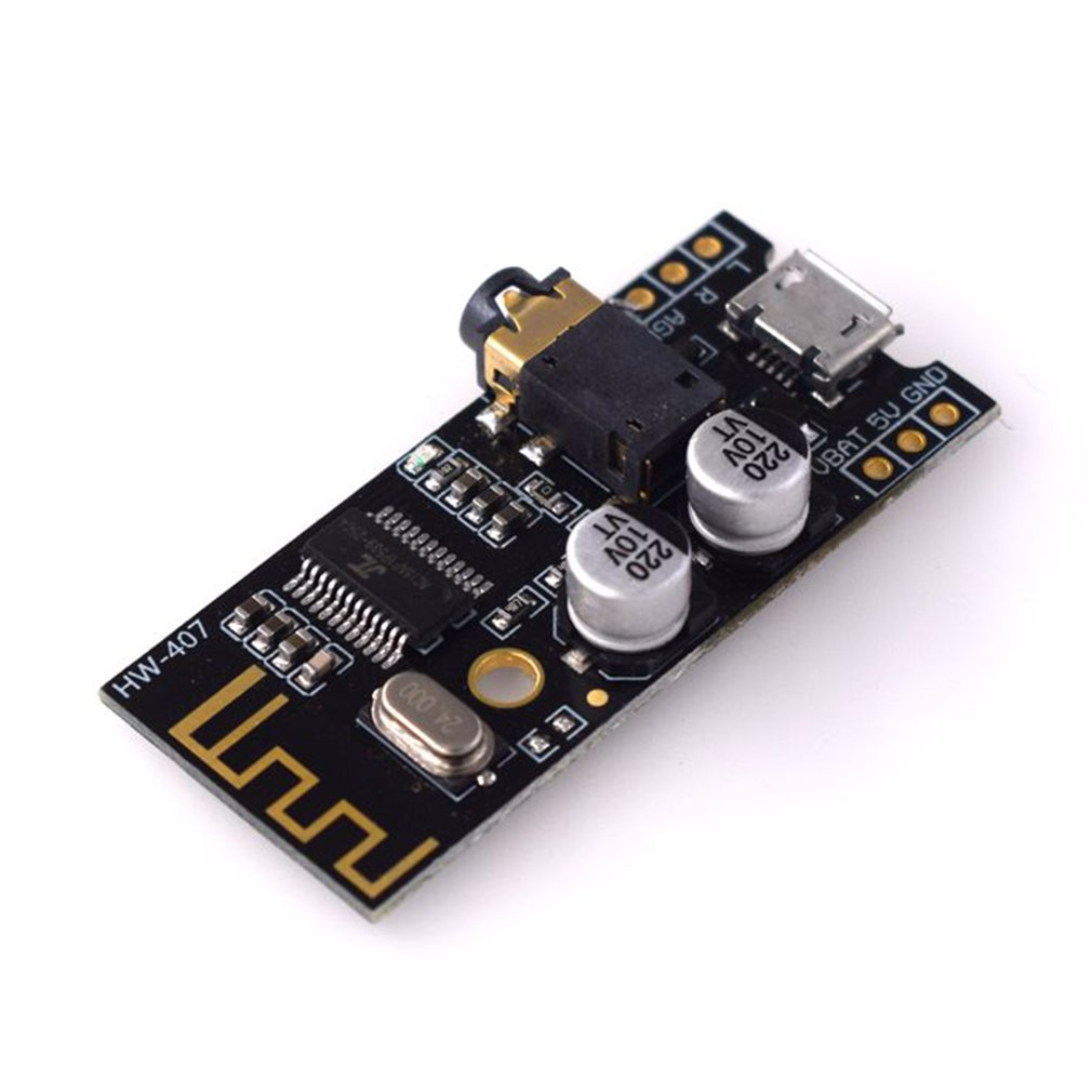 HW-407 Digital Audio Amplifier Board Wireless Audio Module 4.2 Stereo Lossless High Fidelity Hifi Diy Modification Black