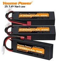 2 uds meme 2S Lipo batería de 7,4 V 5200mah 6200mah 3300mah 4500mah duro caso decanos hembra para TRX coche camión barco Drone piezas de control remoto