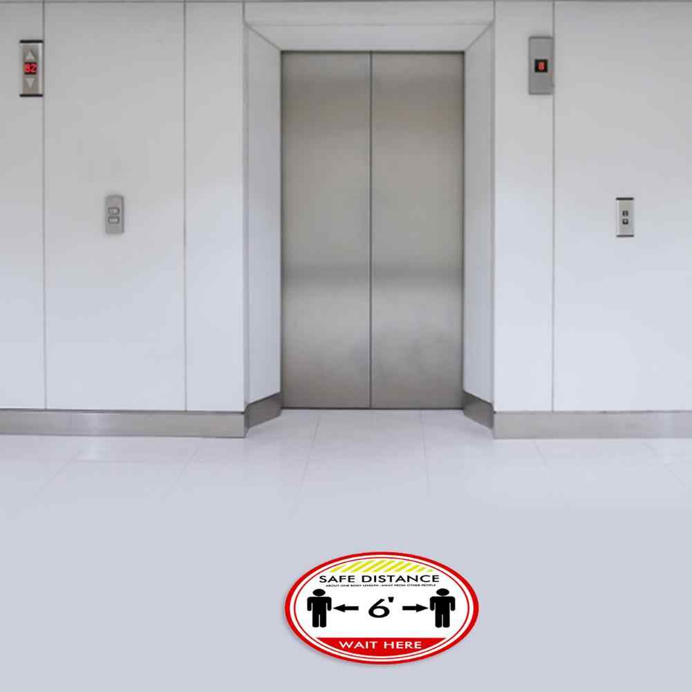 Social Distancing Outdoor Home Indoor Ground Sticker Distance Marker Keep Your Distance Stand Here Floor Decal Marker