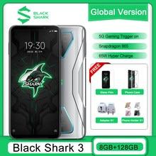 Оригинальный черный акулы 3 глобальная Версия 8G 128G игровой 5G мобильные телефоны Octa Core 4720 мА/ч, 65 Вт 6,67
