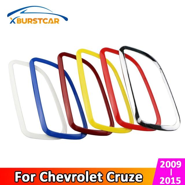 Xburstcar Car Chrome Accessories for Chevrolet Cruze 2009 - 2015 Interior Inner Door Handle Circle Cover Trim Sticker