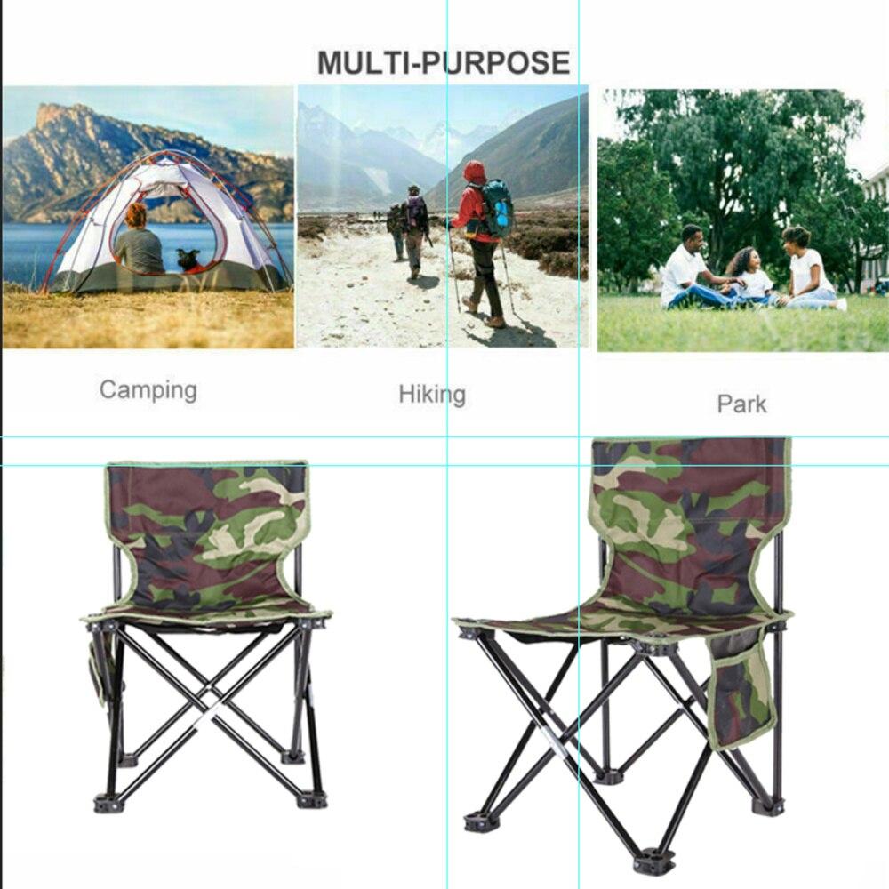 moda camuflagem cadeira dobravel luz portatil casual 04