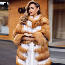 2019 Women's Winter Fashion Jacket Real Fur Coat Whole Skin Thick Warm Fox Fur For Female Relax Style Fox Fur Coat Customized
