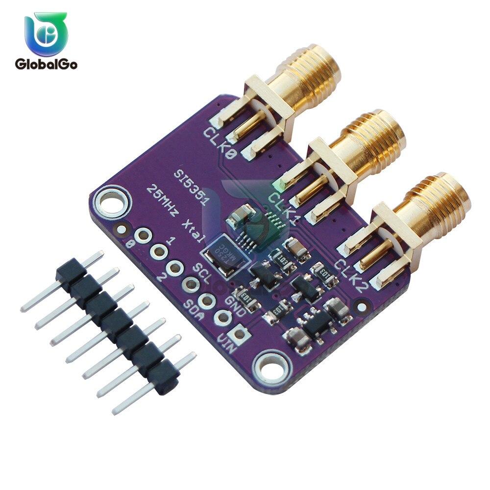 DC 3V-5V 5351 Si5351A Si5351 I2C тактовый генератор коммутационная плата модуль 8 кГц-160 МГц генератор сигналов часы модуль для Arduino