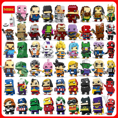 DECOOL Brickheadz Dragon Ball Z Pikachu Thanos Avengers 4 Super Heroes Brick Heads Headz Building Blocks Toys Compatible Legos