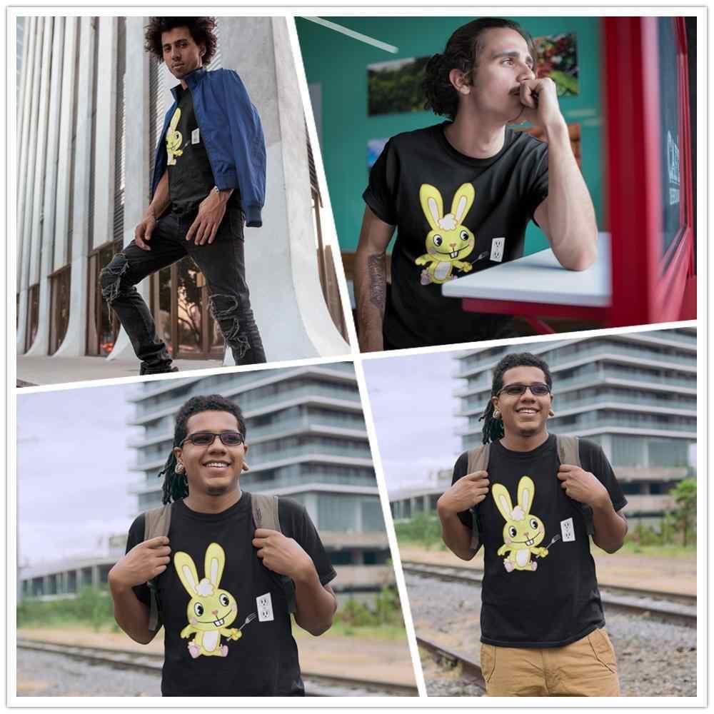 Happy Tree Freunde T-Shirt Happy Tree Freunde T Hemd Cuddles Cartoon Druck Baumwolle Kurz-Hülse T-shirt Übergroßen Spaß t-shirt