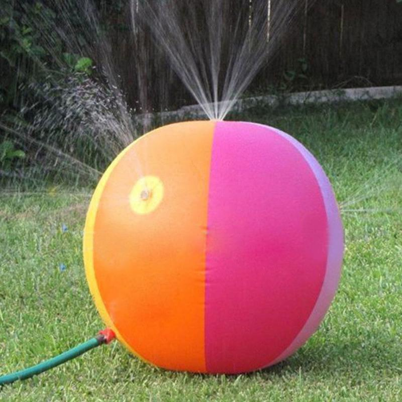 75 Cm Children Summer Inflatable Water Spray Environmental Balls Outdoor Sport Swimming Party Kids Playing Inflated Game Toy