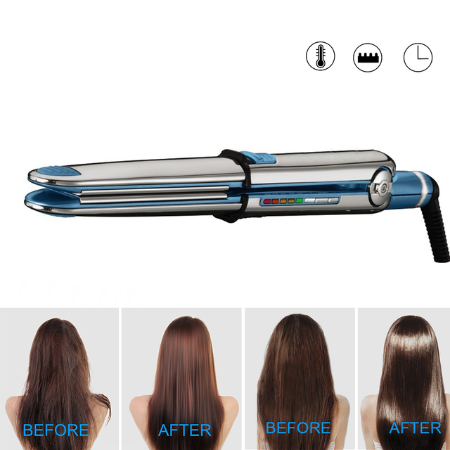 Nano Titanium Hair Curler 750F Titanium Digital Flat Iron Hair Straightener Curler 2 in 1 Curling Irons Straight Hair Styling 5