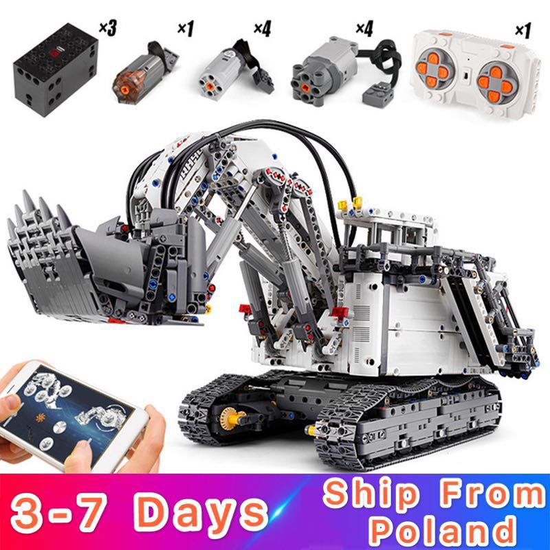Mouldking 13130 Liebherr R 9800 Excavator Compatible 42100 Building Blocks Bricks Educational Toys Christmas Gifts For Children