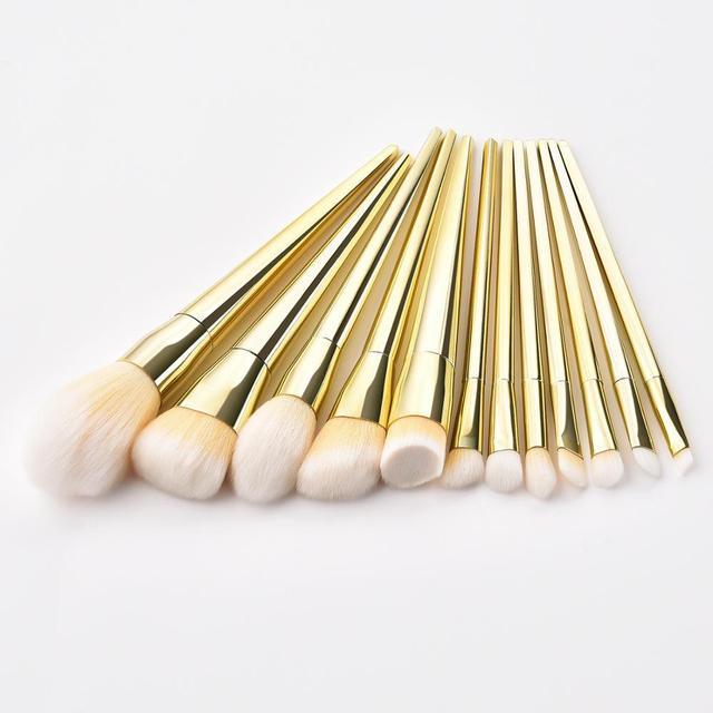 7/12pc Rose Gold Makeup Brushes Set tool for Eyeshadow Eyebrow Fundation Powder Concealer Blush Long handle Makeup maquiagem 6