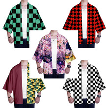 Cosplay Men Kimono Cardigan Demon Slayer Kimetsu Kamado No-Yaiba Jackets Women 3d Top