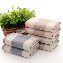2019 new Japanese style good high-grade cotton thick gauze mens couple face towel soft absorbent