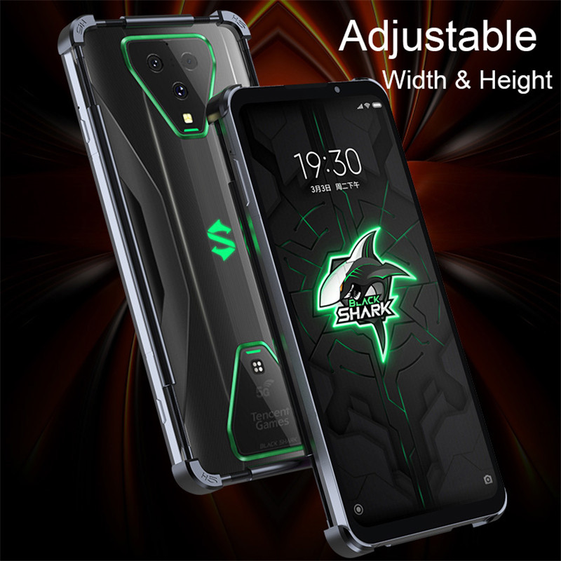 Adjustable Universal Stainless Steel Metal Bumper Case For Xiaomi Black Shark 3 Pro 2 Pro Helo Case Aluminum Phone Cover Funda