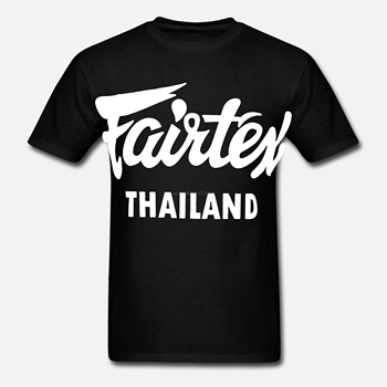 Fairtex Tailandia camiseta negra Casual Muay Thai Kickboxing cuello redondo suelta gráfico Tee tamaño S-3xl