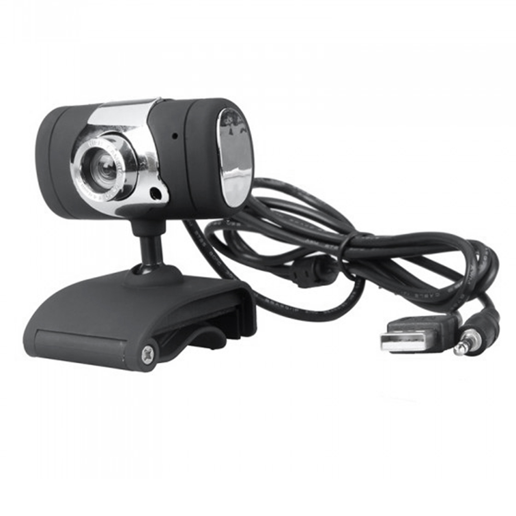 High Quality HD Webcam Camera USB 2.0 50.0M Web Cam With CD Driver Microphone MIC For Computer PC Laptop A847 Black