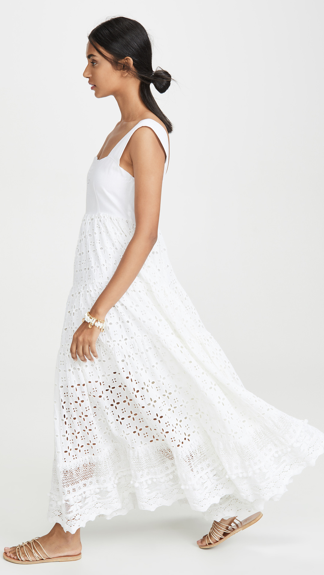 Maxi Dress Chic Embroidered Crochet Lace Dress