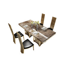 Набор столовой из нержавеющей стали домашняя мебель минималистичный