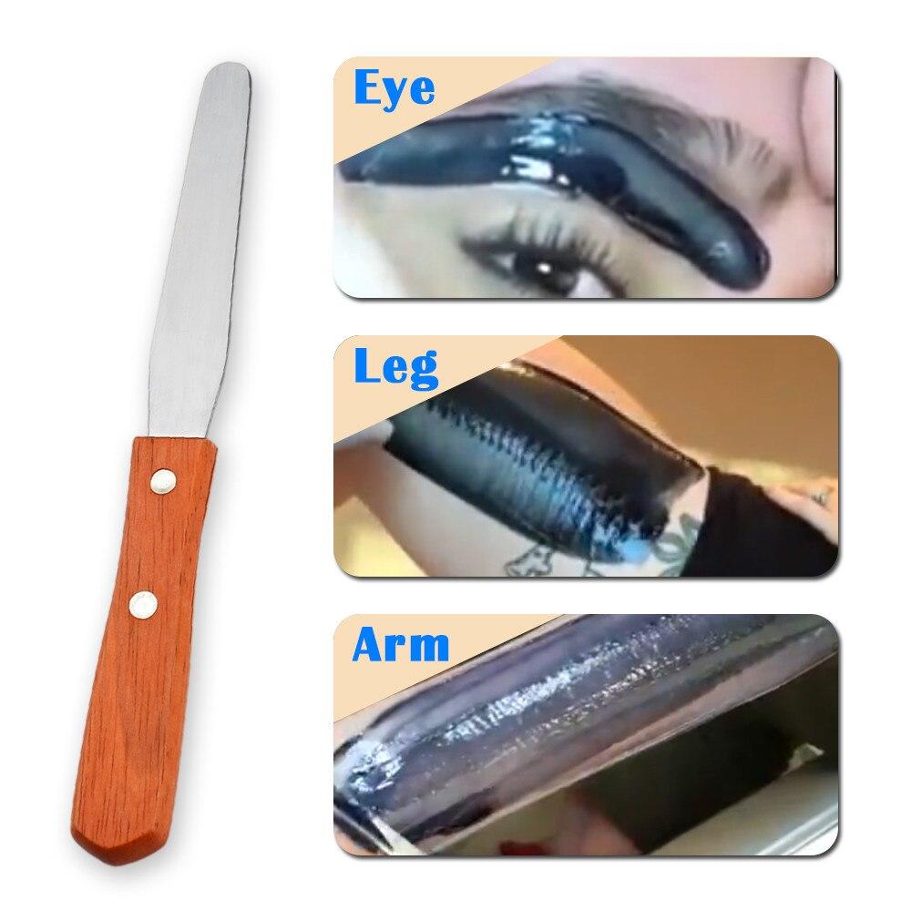 1 Pcs Wax Stick Scraper Stainless Steel Metal Wax Scraper Wax Waxing Scraper Bar Hair Removal Hair Removal Applicator Tool