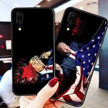 Yinuoda Phone Case For Donald Trump Black Soft TPU Huawei P9 lite P10 Shell DIY P8 mate 10 P30 NOVA