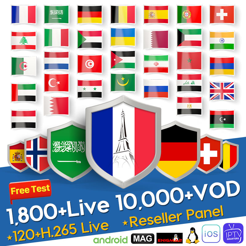 Arabic IPTV France <font><b>Belgium</b></font> Netherlands Italy Germany Subscription IPTV 1 Year Switzerland Spain Android IPTV M3U IP TV pk QHDTV image