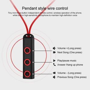 Image 4 - BT313 Bluetooth Oortelefoon Magnetische Hoofdtelefoon Sport Draadloze Opknoping Hals Koptelefoon Met Mi Crophone Voor Xiao Mi Rode Mi Huawei P30