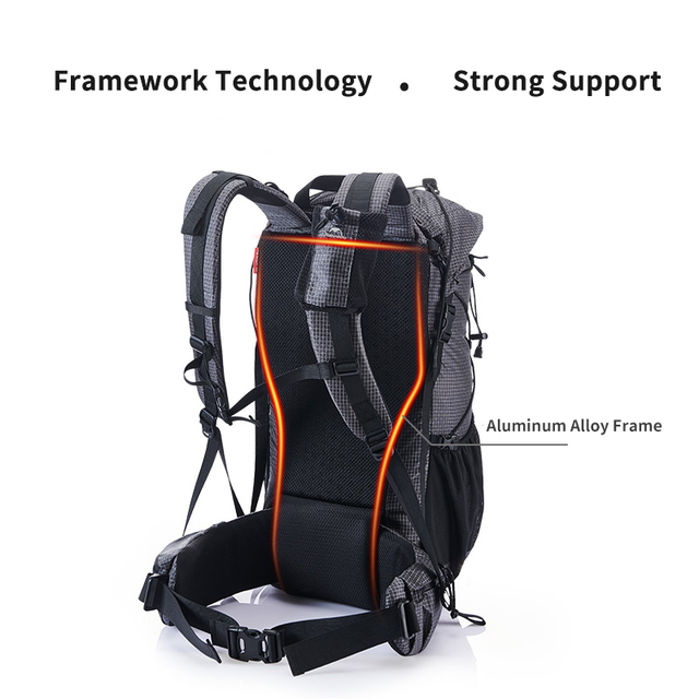 Naturehike 60L+5L backpack Hiking Climbing Backpacking 1160g Rain Cover 4