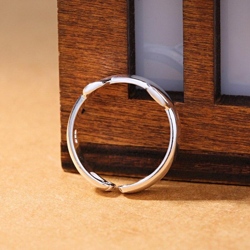 2019 freies Verschiffen Silber Offener Ring 925 Silber Katze Ring - Modeschmuck - Foto 5
