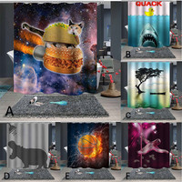 Brand New High Quality Polyester Popular Waterproof Fashion Shower Curtain 12 Hooks Printed Bathroom Decoration 180x180cm