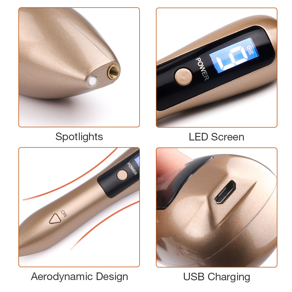 LCD Plasma Pen LED Lighting Laser Tattoo Mole Removal Machine Face Care Skin Tag Removal Freckle Wart Dark Spot Remover 5