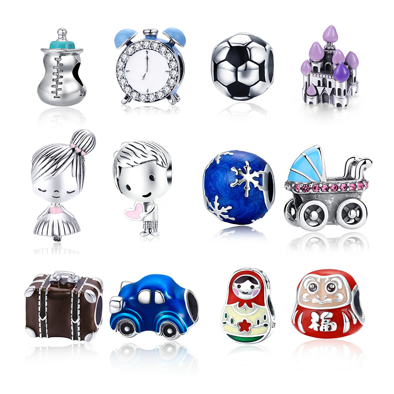 Bracelet 925-Sterling-Silver Charm Beads Jewelry-Making Authentic Original Boy Travel