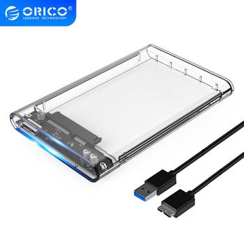 ORICO HDD Case 2.5 inch Transparent SATA to USB 3.0 3.1 Hard Disk Case Tool Free 5Gbps 4TB UASP Type C SSD HDD Enclosure 10Gbps tool free 10gb s usb 3 1 type c hdd enclosure with ventilation holes sata 3 0 ssd mobile box usb c to sata 6gb s case asm1351