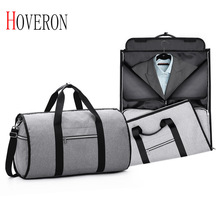 HOVERON Men Travel Bags for Suit Foldable Waterproof Hand Luggage Business Duffle Bag 5 Stars Weekend