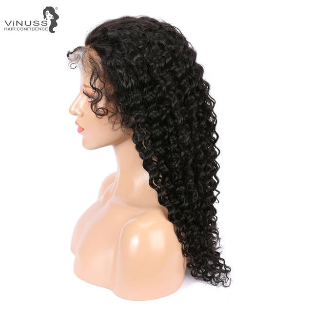 Vinuss Full Lace Human Hair Wigs For Black Women deep wave Lace Front Wigs Brazilian Remy Pre Plucked Bleached Knots 3