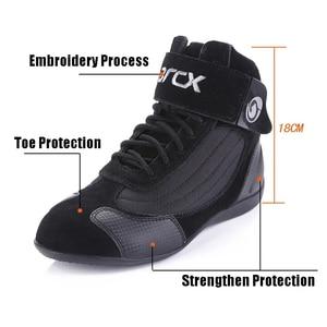 Image 3 - Arcxオートバイの牛の革ブーツストリートモト靴バイクバイクモトクロスチョッパーブーツレース保護保護ブーツ