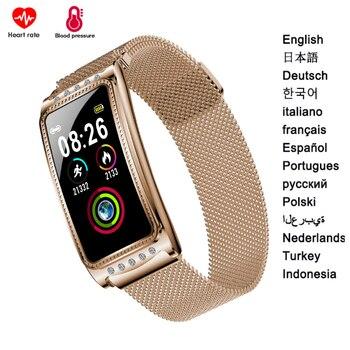 F28 Sport Women Smart Watch for Android Apple Phone Heart Rate Blood Pressure Smartwatch P68 Waterproof Bracelets for Woman Girl